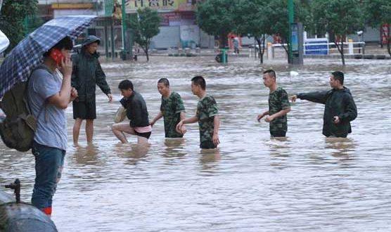 چین کے مشرقی علاقوں میں سیلاب، ہزاروں افراد متاثر